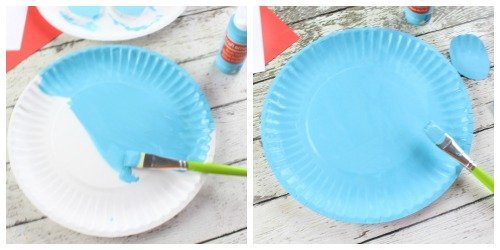 Smurf Paper Plate Craft