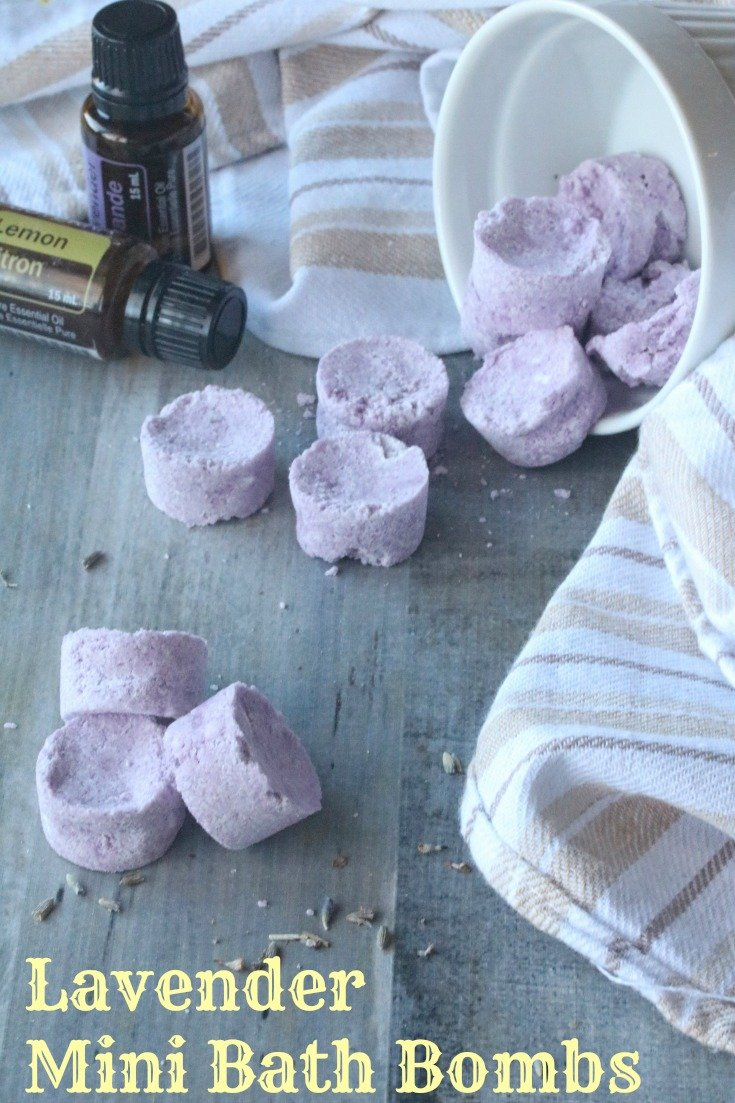 Learn how to easily #DIY your own personal Mini #Lavender #Lemon Bath Bombs at home! #BathBombs  with this tutorial from Practical Frugality!