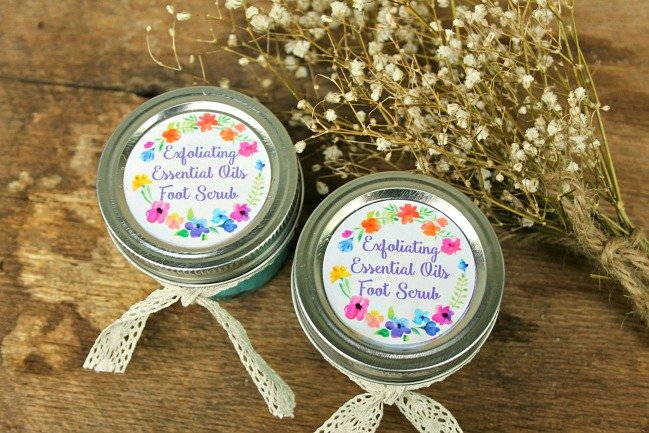 DIY Essential Oils Exfoliating Sea Salt Foot Scrub Lotion