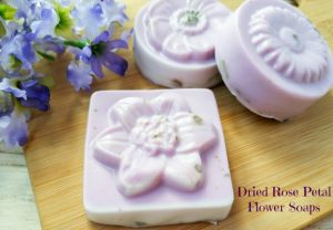 Dried Rose Petal Flower Soaps
